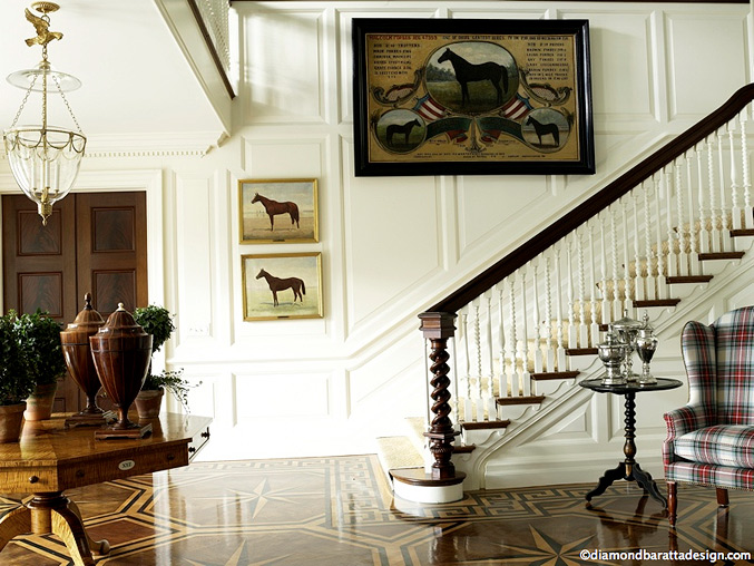 A collection of equestrian home inspirations equestrian for Classic foyer design