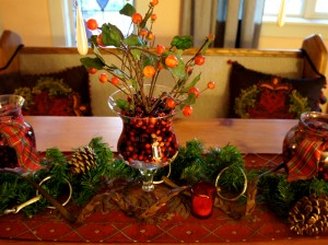 Equestrian Centerpiece 1 Cranberries