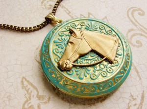 Horse Locket Necklace