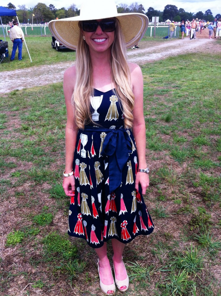 Pictured Above: Ashley Cline in an Equestrian Derby Day Dress by Anthropology