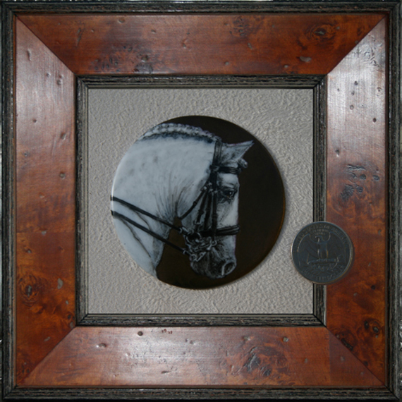 frame with coin