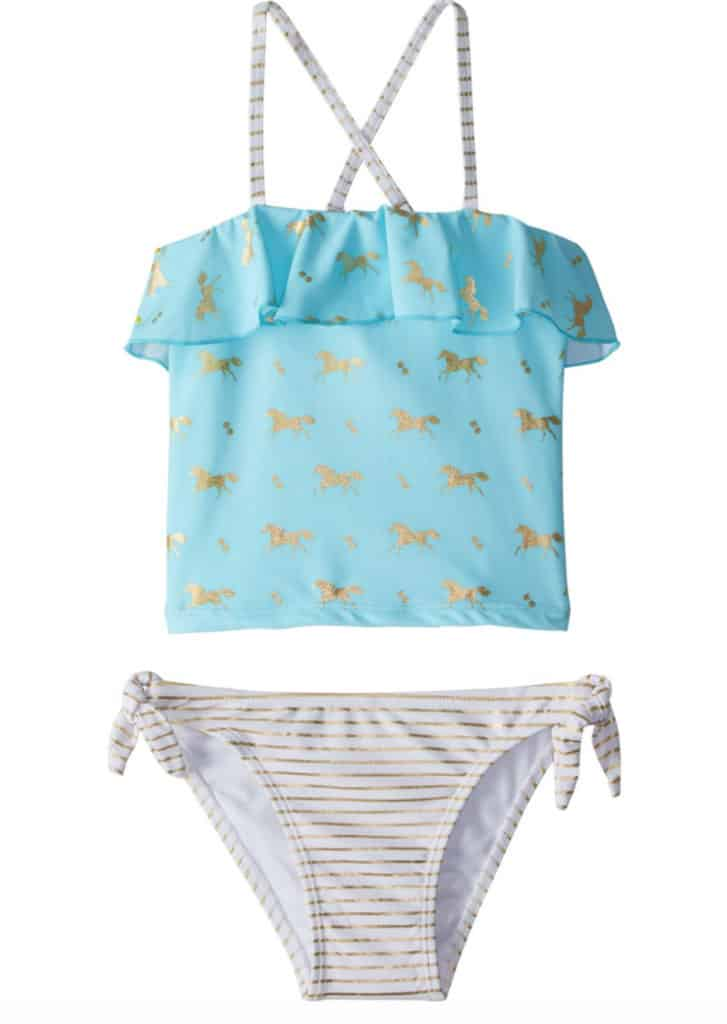 summer swim styles featuring pony prints equestrian stylist