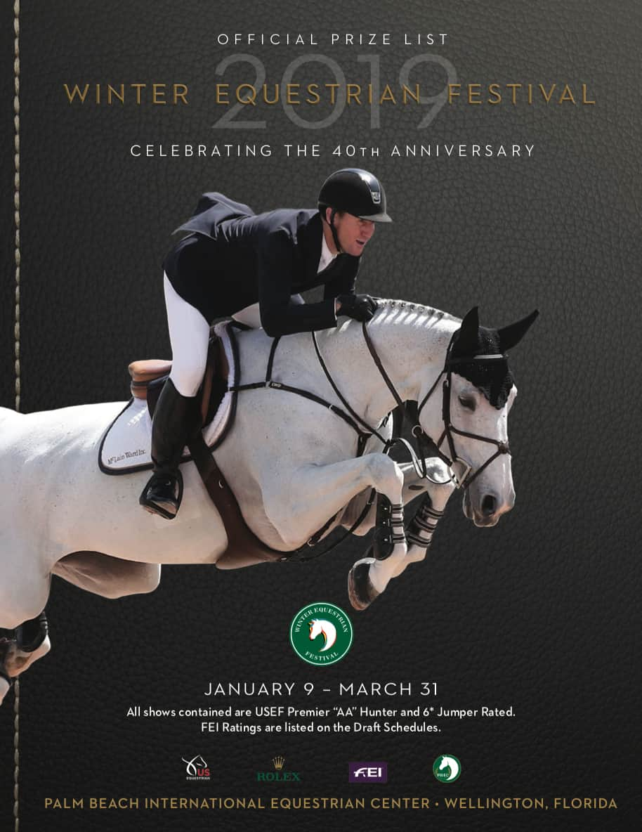 Winter Equestrian Festival 2019 Prize List Now Available Equestrian Stylist